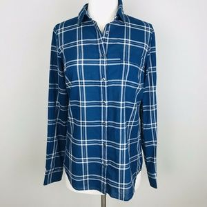 new J.Crew Cotton Plaid Button Down Long Sleeve XS